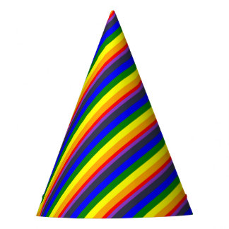 White To Black Rainbow of Color Spaces Party Hat