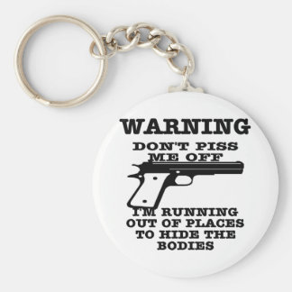 White To Hide The Bodies Key Chain
