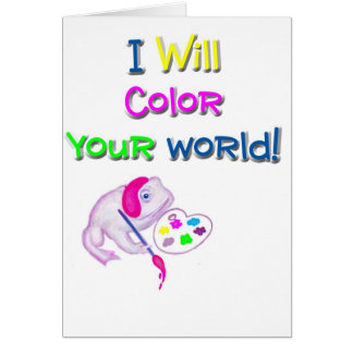 """White Toad """"I Will Color Your World"""" Products Card"""