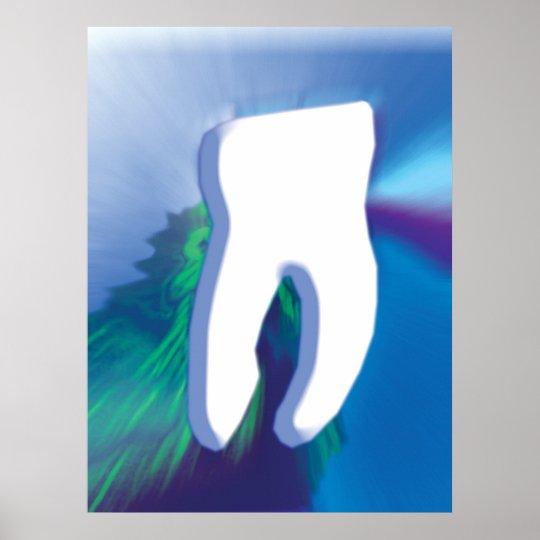 White Tooth Dental Art Dentist Orthodontist Poster