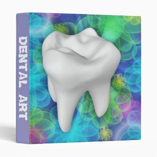 White Tooth Design Dentist Office Supply Binder