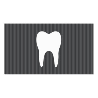 White tooth gray texture minimalist dentist dental business card