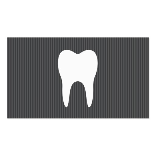 White tooth gray texture minimalist dentist dental business card
