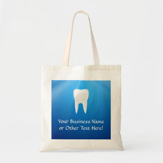 White Tooth on Blue Background Tote Bag