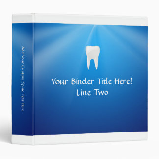 White Tooth on Blue Background Binders