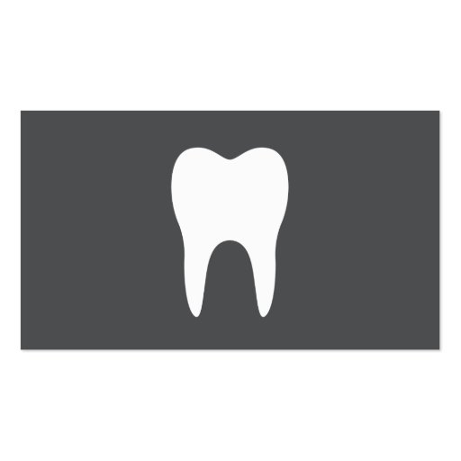 White tooth simple minimalistic dentist dental business cards