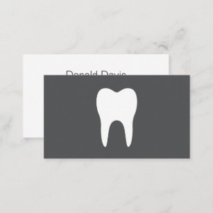 Dental hygiene business cards zazzle white tooth simple minimalistic dentist dental business card colourmoves