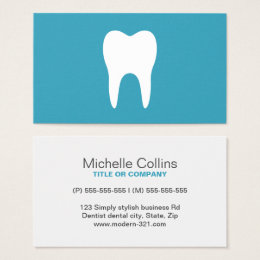 Dental hygiene business cards templates zazzle white tooth teal minimalist dentist dental business card reheart Image collections