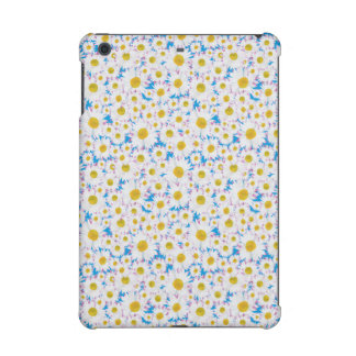 White Tossed Daisy on Bright Blue iPad Mini Cover