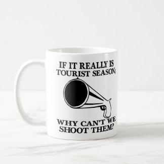 White Tourist Season Shoot Them Classic White Coffee Mug