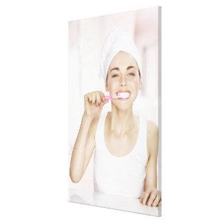 white towel, beauty, clean, fresh, bathroom, canvas print