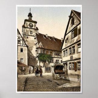 White Tower (i.e. Weisser Turm), Rothenburg (i.e. Posters