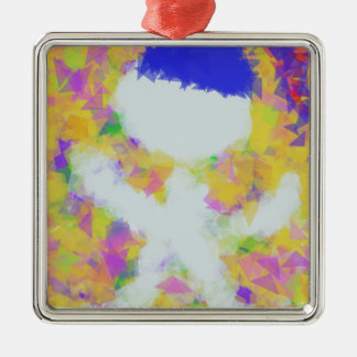 White toy in birthday metal ornament