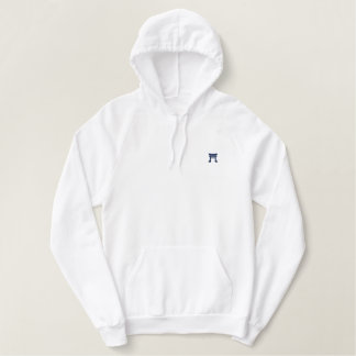 White traditional Hoodie