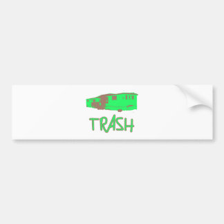 White Trailer Park Trash Poor Dumb Redneck Bumper Sticker