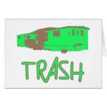 White Trailer Park Trash Poor Dumb Redneck Greeting Cards