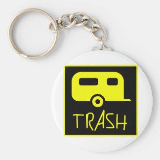 White Trailer Park Trash Poor Dumb Redneck Keychain