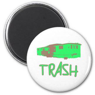 White Trailer Park Trash Poor Dumb Redneck 2 Inch Round Magnet