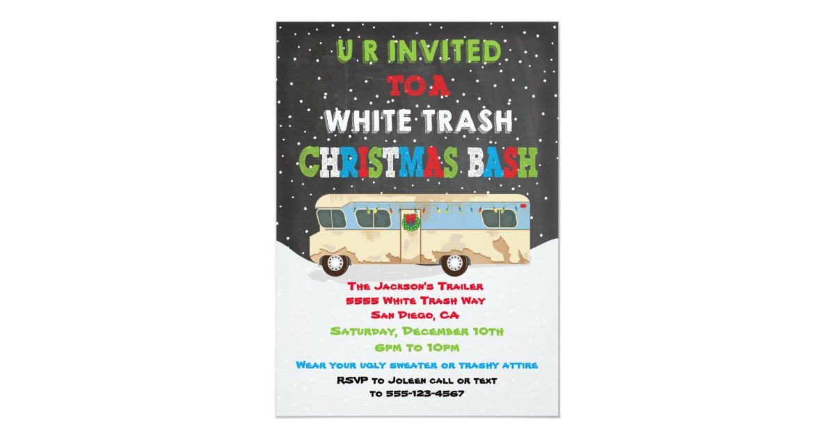 White trash party invitation best trash 2018 white trash party invitation wording infoinvitation co stopboris Image collections