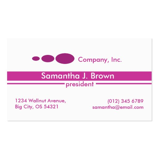 White Transparent Lines Business Card