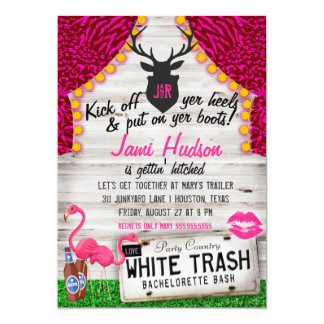 White Trash Bachelorette Bash Card