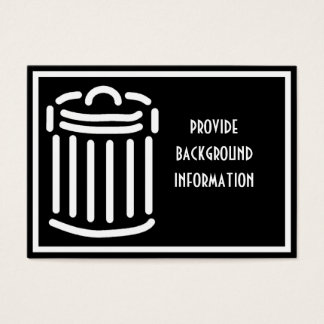 White Trash Can Symbol Business Card