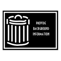 White Trash Can Symbol (For Dark Backgrounds) Business Cards