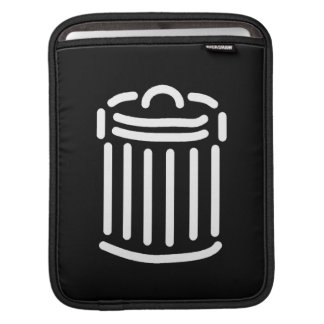 White Trash Can Symbol Sleeves For iPads