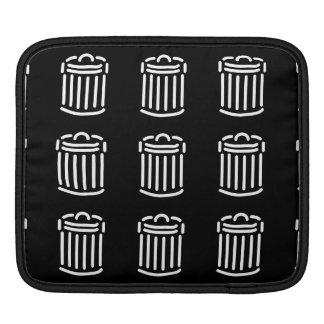 White Trash Can Symbol iPad Sleeves