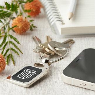 White Trash Can Symbol Keychain