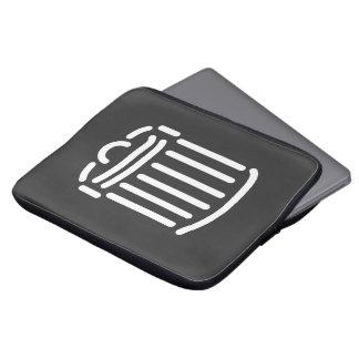 White Trash Can Symbol Laptop Computer Sleeve