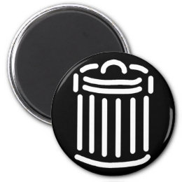 White Trash Can Symbol Magnet