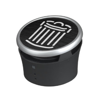 White Trash Can Symbol Bluetooth Speaker