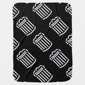 White Trash Can Symbol Receiving Blanket