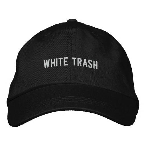 White Trash Embroidered Baseball Hat