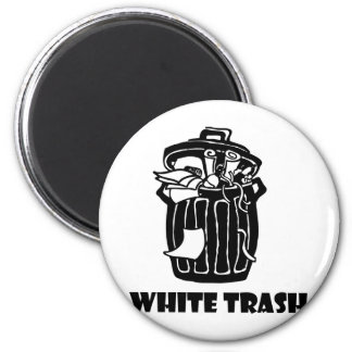 White Trash Garbage Can 2 Inch Round Magnet