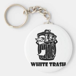White Trash Garbage Can Keychain