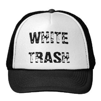 WHITE TRASH TRUCKER HATS