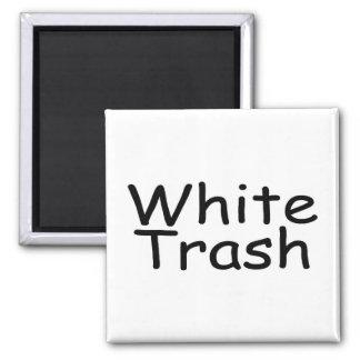 White Trash 2 Inch Square Magnet
