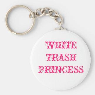 WHITE TRASH PRINCESS KEYCHAIN