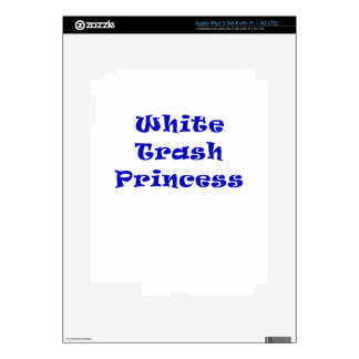 White Trash Princess Decals For iPad 3