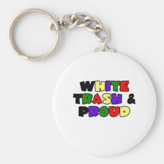 White Trash & Proud Keychain