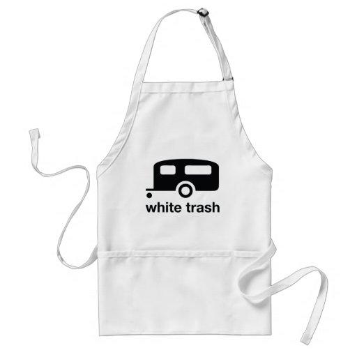White Trash trailer icon - trailer park Aprons