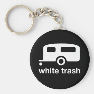 White Trash trailer icon - trailer park Key Chains