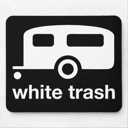 White Trash trailer icon - trailer park Mouse Pad