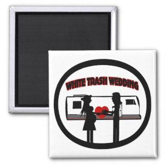 White Trash Wedding 2 Inch Square Magnet