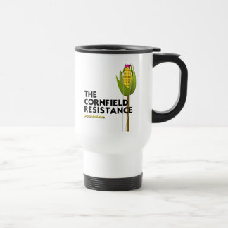 White Travel Mug - The Cornfield Resistance