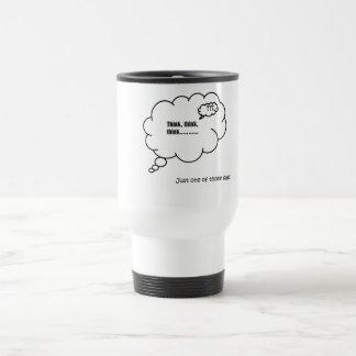 White travel mug. Think cloud, One of those days. Travel Mug
