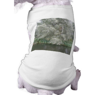 White Tree and River Landscape Dog Clothing