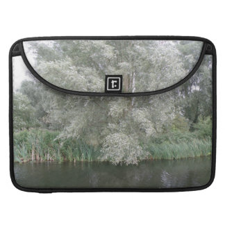 White Tree and River Landscape MacBook Pro Sleeve